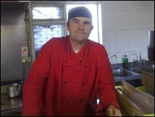 Dave Jones in the Smithdown Cafe
