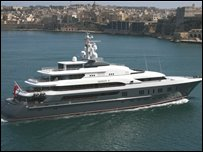 Mr Deripaska's superyacht