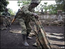 A DR Congo army soldier