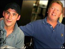 Joe Calzaghe and Frank Warren