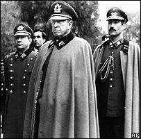 Augusto Pinochet junto a otros generales chilenos