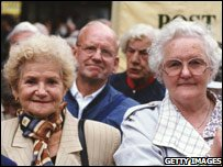 Two female pensioners