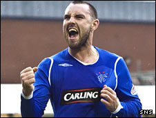 Kris Boyd celebrates at New Douglas Park