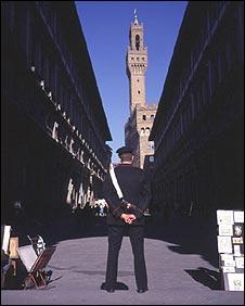 Uffizi gallery in Florence