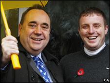 Alex Salmond and Gordon Brown