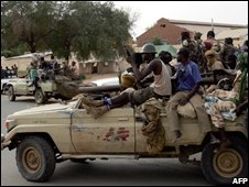 SLA forces in North Darfur (Sept 2008)