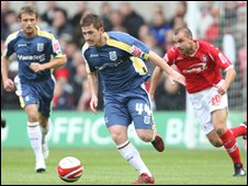Cardiff's goal hero Ross McCormack goes on a run