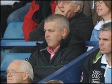 Wales coach Warren Gatland at the Arms Park