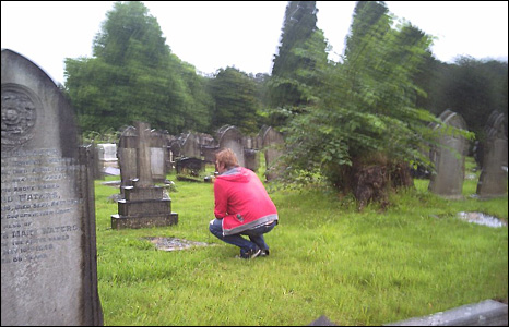 Nick Griffiths in St Woolos cemetary in Newport