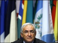IMF Managing Director Dominique Strauss-Kahn in a photo from 13 October