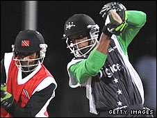 Sylvester Joseph (right) was on form with the bat for Stanford Superstars