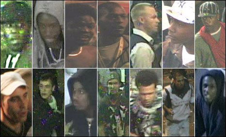 Images of 14 people wanted in connection with Notting Hill Carnival violence