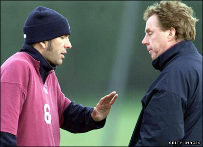 Redknapp with Paolo di Canio