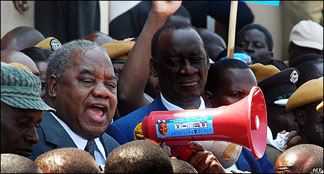 Favourite to win the election is acting president Rupiah Banda