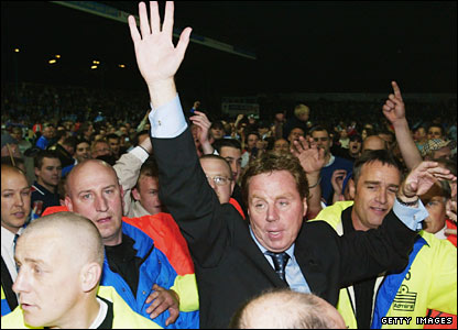 Redknapp celebrates promotion