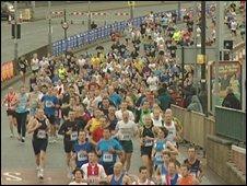 Runners at the Birmingham Half Marathon