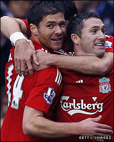 Xabi Alonso and Robbie Keane