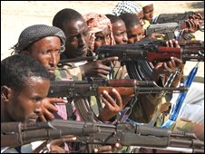 Radical Somali Islamist forces near Mogadishu (26.07.2007)