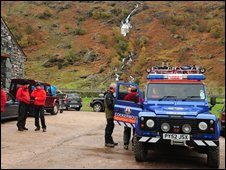 Mountain rescue teams in Borrowdale