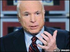 John McCain appearing on Meet the Press