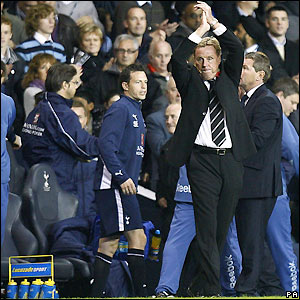 Redknapp salutes Tottenham's fans
