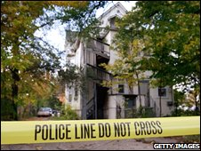 Police tape seals off the house of the late Darnell Donerson in Chicago
