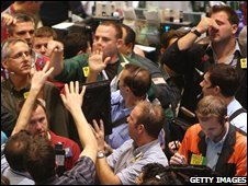 Oil traders on Nymex