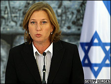 "Israel""s Foreign Minister Tzipi Livni addresses the press"