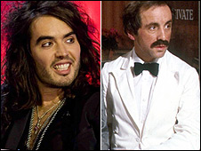 Russell Brand and Andrew Sachs in Fawlty Towers