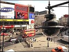 CCTV camera at Piccadilly Circus