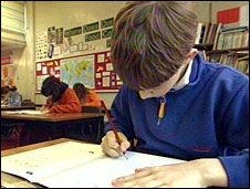 Pupil taking tests