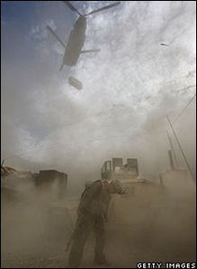 A US helicopter in Afghanistan
