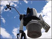 Estación de medición de rayos ultravioleta en Quito