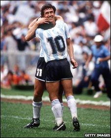 Jorge Valdano and Diego Maradona