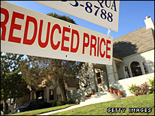 An American house on sale at a reduced price