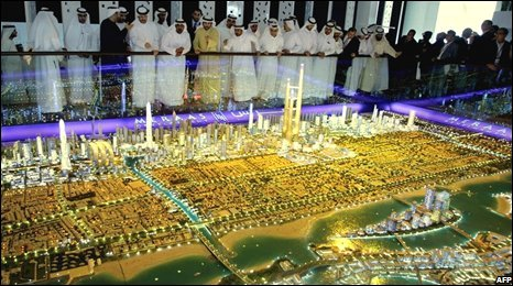 A display at the Cityscape real estate exhibition in Dubai