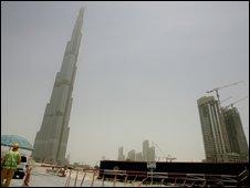 Burj Dubai looms over Dubai