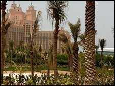 The Atlantis resort on the man-made Palm Jumeirah island