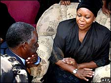 Michael Sata and wife of late President Levy Mwanawasa, Maureen