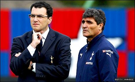 Damien Comolli and Juande Ramos
