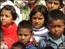 Nepalese children from a refuge home