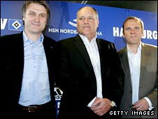 Dietmar Beiersdorfer, Martin Jol and Bernd Hoffmann