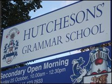 Hutchesons Grammar sign