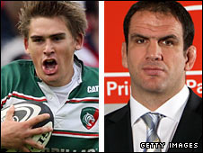 Toby Flood and Martin Johnson