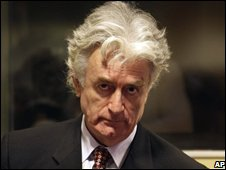 Former Bosnian Serb leader Radovan Karadzic in The Hague. File photo
