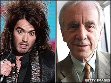 Russell Brand and Andrew Sachs