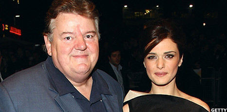 Robbie Coltrane and Rachel Weisz