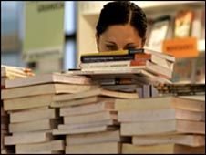 Woman in bookshop