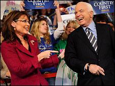 Sarah Palin and John McCain in Hershey, Pennsylvania - 28/10/2008