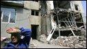Destroyed building in Tskhinvali